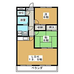 グレースコートI[2階]の間取り