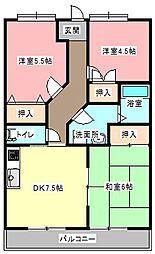 メゾンムラマツI[3階]の間取り