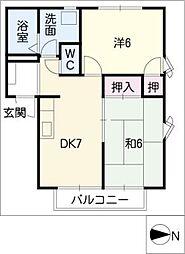サイレントヒルモモヤマ[1階]の間取り