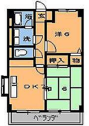 キンコーハウス都賀[202号室]の間取り