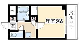 愛知県名古屋市名東区藤森2の賃貸マンションの間取り