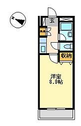 静岡県沼津市東椎路の賃貸マンションの間取り