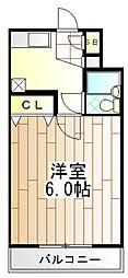 東京都町田市中町2の賃貸マンションの間取り