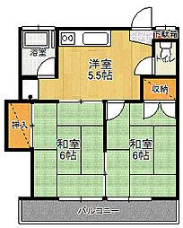サンライズC[2階]の外観