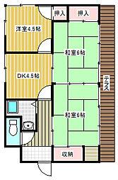 [一戸建] 山口県下関市稗田中町 の賃貸【/】の間取り