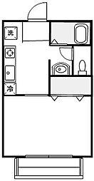 ハイツシャルム[1階]の間取り