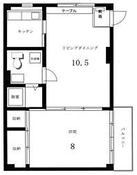 メイプルハウス1[1階]の間取り