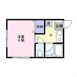 サニータウン湘南台[102号室]の間取り