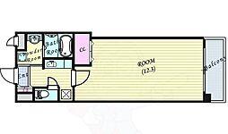 JR大阪環状線 福島駅 徒歩4分の賃貸マンション 6階1Kの間取り