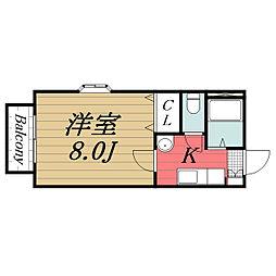 千葉県千葉市若葉区小倉台4丁目の賃貸アパートの間取り