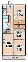 サンパーク寺尾[1階]の間取り