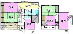 [一戸建] 愛媛県松山市南斎院町 の賃貸【愛媛県 / 松山市】の間取り