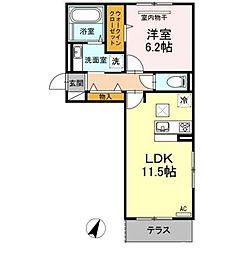 D-Room戸原東[2階]の間取り