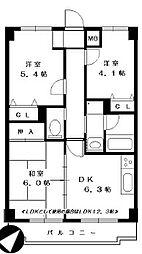 戸塚区川上町 マンションひかり306号室[306号室]の間取り
