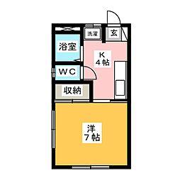 やざき荘[1階]の間取り