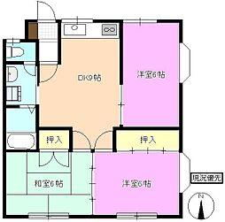長野県長野市丹波島1丁目の賃貸アパートの間取り