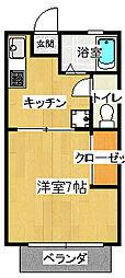 マツウラアパート[103号室]の間取り
