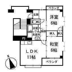アメニティ大樹寺 弐号館 3階[301号室]の間取り