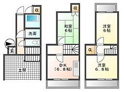 [一戸建] 愛知県名古屋市北区浪打町2丁目 の賃貸【/】の間取り