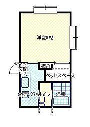 JR山形新幹線 山形駅 バス19分 坂巻下車 徒歩5分の賃貸アパート 2階1Kの間取り