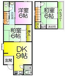 [テラスハウス] 大阪府堺市西区浜寺公園町1丁 の賃貸【/】の間取り