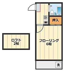 神奈川県綾瀬市大上4丁目の賃貸アパートの間取り