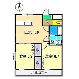 ネオ・クレストII[1階]の間取り