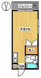 コーポ亀倉[3階]の間取り