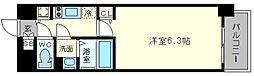グランカリテ新大阪WEST 7階1Kの間取り