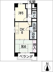 松原名藤マンション[7階]の間取り