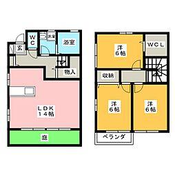 [テラスハウス] 岡山県岡山市中区東川原 の賃貸【/】の間取り