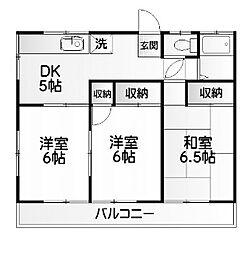 広瀬ハイツ[2階]の間取り