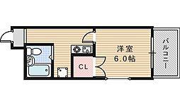 大阪府大阪市阿倍野区松崎町3の賃貸マンションの間取り