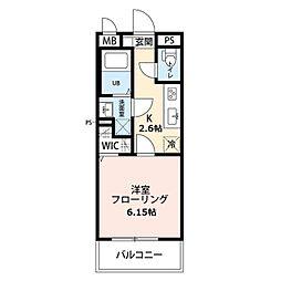 リコルテ sanburaitonesu 1階1Kの間取り
