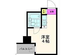 武蔵小金井スカイハイツ[3階]の間取り
