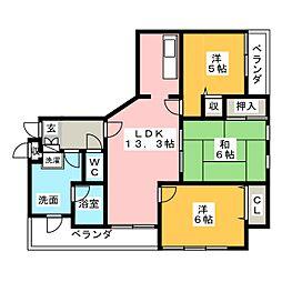 ラシーナ田町[8階]の間取り