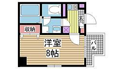 アスヴェル神戸元町[704号室]の間取り
