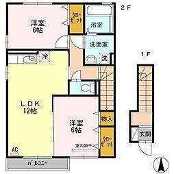 アウスレーゼN A棟[2階]の間取り