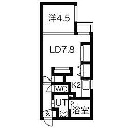 ツヴァイトロジック[5階]の間取り