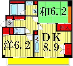 都民住宅 イルニードマンション[303号室]の間取り