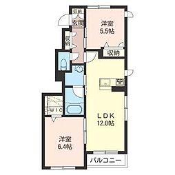 埼玉県さいたま市緑区松木1丁目の賃貸アパートの間取り