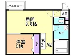 ange-rose(アンジュロゼ) 4階1LDKの間取り