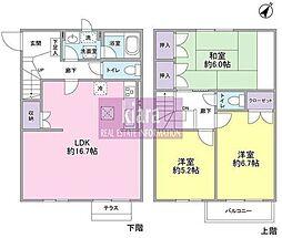 神奈川県横浜市神奈川区西寺尾1丁目の賃貸アパートの間取り