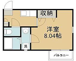 宮城県仙台市太白区太子堂の賃貸アパートの間取り