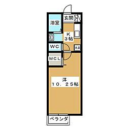 タイチ七瀬川[1階]の間取り