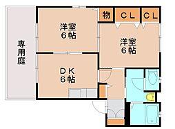 クレール東平尾[2階]の間取り