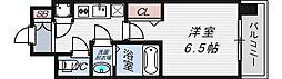 レジュールアッシュ京橋CROSSII[7階]の間取り