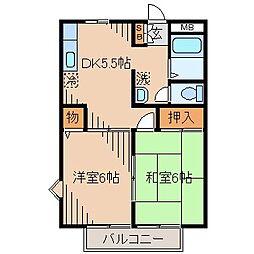 ドミール北栄[304号室]の間取り