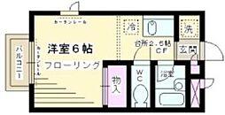 東京都世田谷区上北沢1丁目の賃貸アパートの間取り