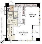 6階部分北東角住戸、シングル&DINKS向き